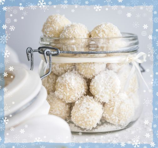 Gift Wrapped Chocolate Brownie Snowballs